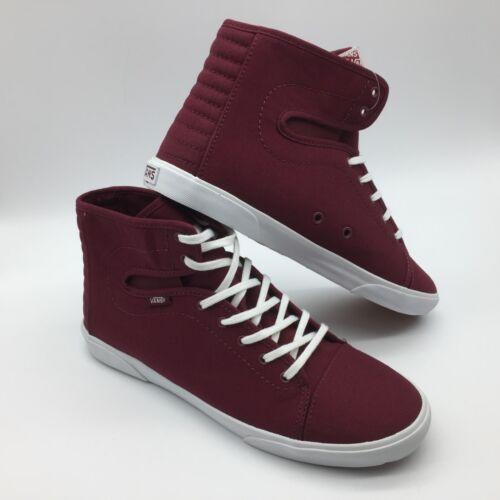 hadley Zapatos blanco Hombre Burdeos Lona Vans mujer wfqOpEYHEU