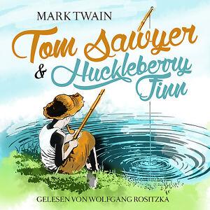 Livre-audio-CD-Tom-Sawyer-et-Huckleberry-Finn-von-Mark-Twain-mise-a-jour-Version