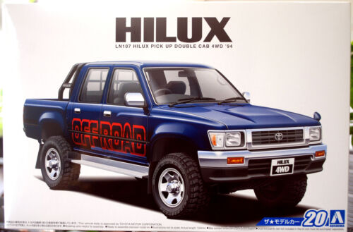 1994 Toyota Hilux Double Cab Off Road Pickup 1:24 Aoshima 52280 neu 2017