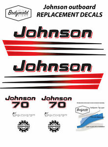 Johnson-BOMBARDIER-70hp-Replacement-Outboard-Decals-stickers