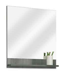 Badspiegel Wandspiegel Badezimmer Spiegel mit Ablage Graphit ...