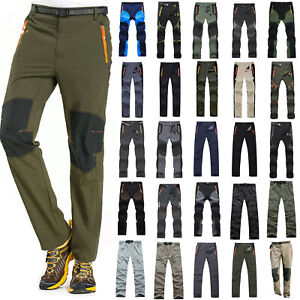 Mens Tactical Climbing Hiking Outdoor Trousers Quick Dry Casual Sports Pants 3XL