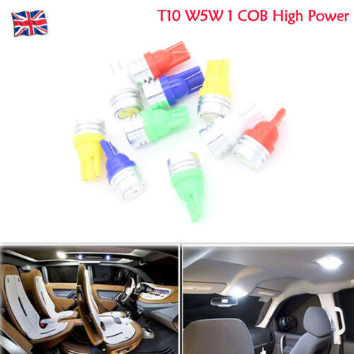 12V High Power LED T10 W5W 1 COB Sidelight Bulbs Auto Car License Plate Light
