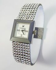 Swarovski Watch Elis Mini Silver Mesh leather strap ref 1000673 New with Papers