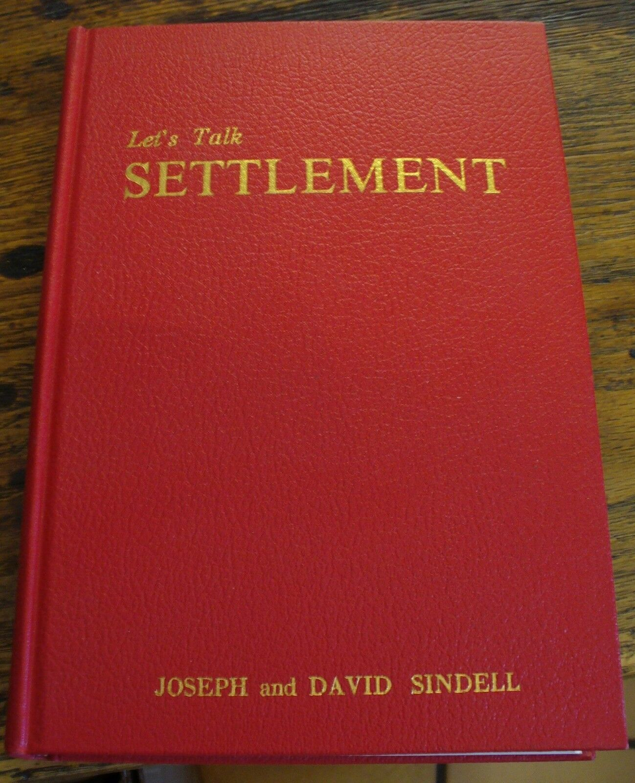 Let's Talk Settlement Sindell 1964 Personal Injury Law Free US Shipping Rare 1