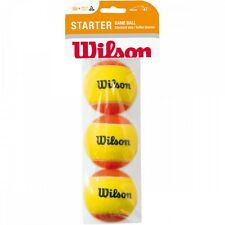 3ER-SET (3) WILSON MINI ORANGE STARTPACKUNG , MINI ORANGE TENNISBÄLLE