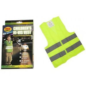 Hi-Vis-Yellow-High-Viz-Childrens-Vest-Visibility-Waistcoat-Jacket-Kids-Childs