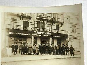 1918-Flanders-Belgium-Vintage-B-amp-W-Photo-German-Marines-Hdqtrs