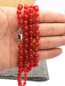 Pretty-6mm-Brazil-red-jade-Gemstone-Beads-Necklace-36-034-AA