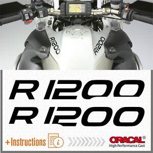 2x-R-1200-GS-Black-BMW-Motorrad-ADESIVI-AUFKLEBER-R1200-PEGATINA-AUTOCOLLANT