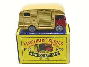 Matchbox-Lesney-No-35a-ERF-Marshall-Horsebox-Mk-7-tipo-B2-Serie-Moko-Caja-GPW