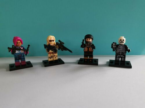 4 Fortnite Mini Figures Lego Compatible