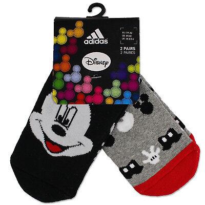 Genial Adidas Mickey Mouse Kinder Stopper Abs Socken 2er Set Micky Maus Grau Schwarz