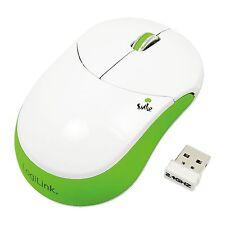 LogiLink Maus Optisch Funk Smile Wireless 2.4 GHz 1000dpi Mouse grün ID0074