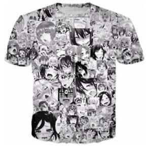 73aced4d New Women Men Funny Casual Japanese Anime Aheago Print 3D T-Shirt Short  Sleeve | eBay