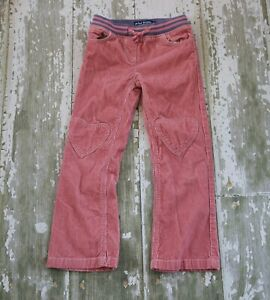 Girls Mini Boden Ribbed Waist Corduroy Pants Sz 6y Purple Heart Patches New!