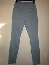 001) WOMENS NEW LOOK SKINNY STRAIGHT JEANS  WAIST 28 INCHES INSIDE LEG 28 INCHES