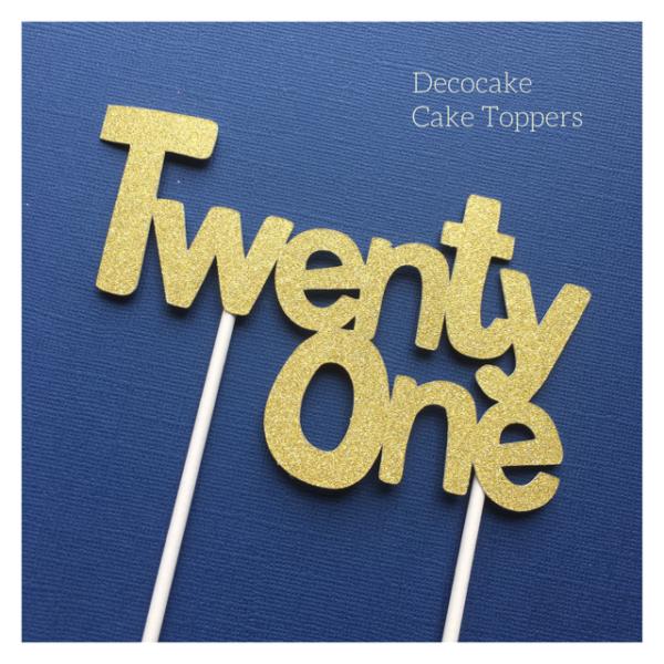 21st Birthday Cake Topper Twenty One
