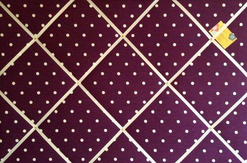 Clarke Berry Dotty Spot Hand Crafted Fabric Notice Memory Pin Memo Cork Board