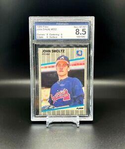 1989 Fleer #602 John Smoltz Rookie PCA 8.5
