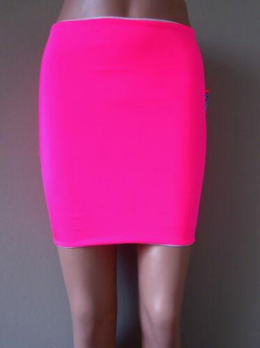 Neon fitted tube skirt fluorescent fluro Uv rave Lycra Spandex Schminke