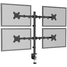 """Quad Four Arm Desk Mount LCD Computer Monitor Bracket Stand 13""""-27"""" Screen TV"""