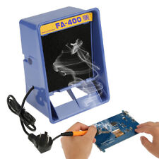 Bench Solder Smoke Absorber Remover Fume Extractor For Soldering 30w Blue