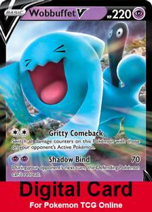 Wobbuffet V Regular Art DIGITAL ptcgo in Game Card for Pokemon TCG Online
