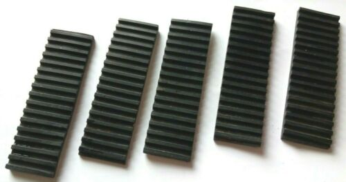 5 x Ribbed Grooved Antivibration Rubber Strip Neoprene 25 x 85 x 4mm Pad mat