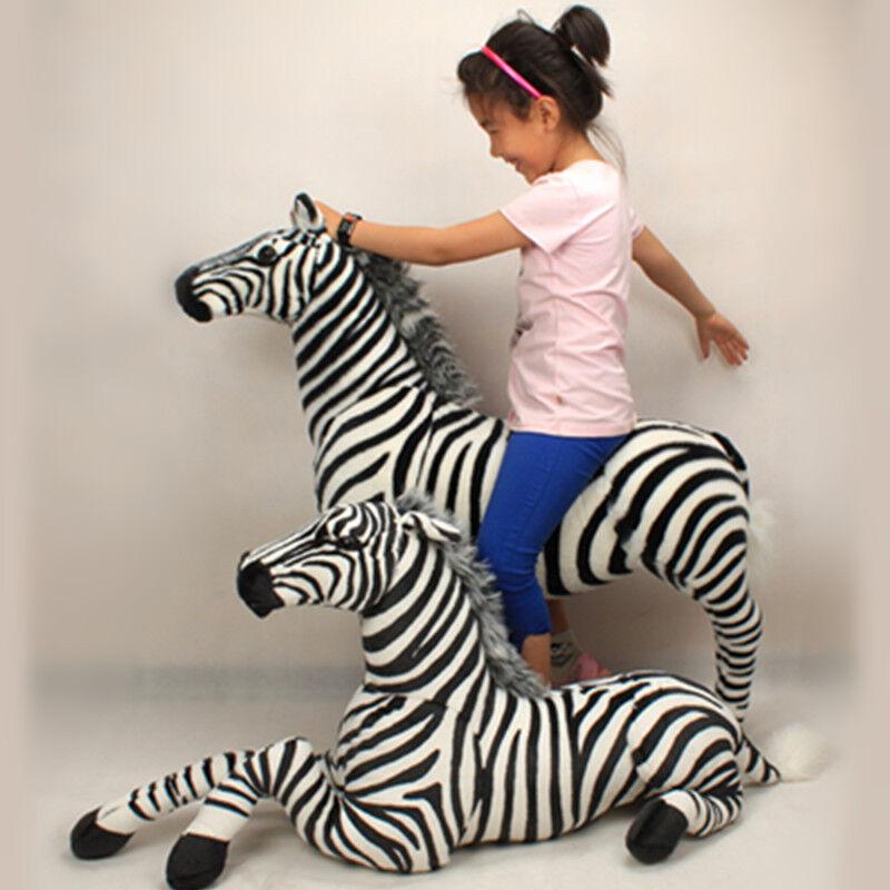 2019 GIGANTE Appeso realistica simulazione Zebra BAMBOLA MORBIDA PELUCHE GRANDE PELUCHE GIOCATTOLO