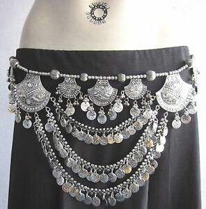 Elegant BELT Tribal Fusion Belly Dance Boho Gypsy Kuchi Skirt Costume Jewelry