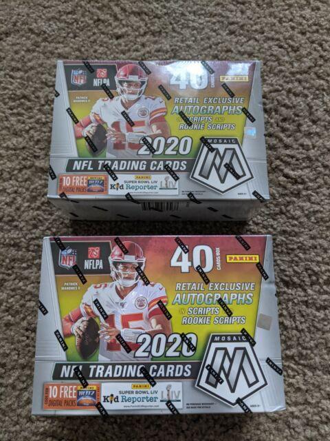 2020 Panini Mosaic NFL Football Target Mega Box New Sealed Gold Fluorescent Priz