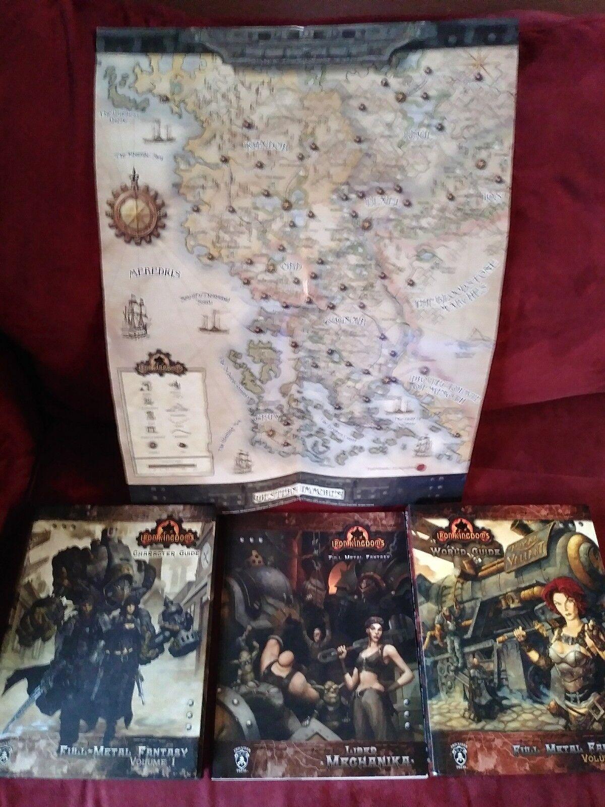 Iron  redoms Lot Liber Mechanika Character Guide World Guide & Original Map  il prezzo più basso