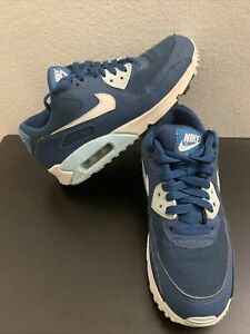 Details about NIKE AIR MAX 90 ESSENTIAL 616730-400 BLUE FORCE ICE CUBE WOMEN SIZE 6.5