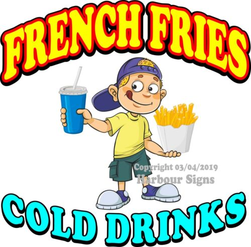 B Soda Concession Food Truck Sticker French Fries DECAL Choose Your Size