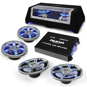 HIFI-CAR-STEREO-SOUND-SYSTEM-6000W-AMP-4-x-SPEAKERS-SUBWOOFER-LOUD-SPEAKER