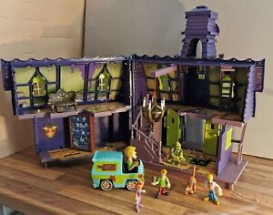 Énorme Scooby Doo Bundle Haunted House Mansion, figures, Mystery Machine