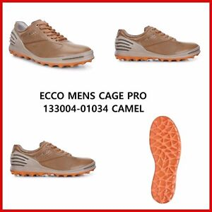 298d5c3236ad3 New Ecco Mens Golf Shoes Cage Pro Camel Spikeless EU39 40 41 42 43 ...