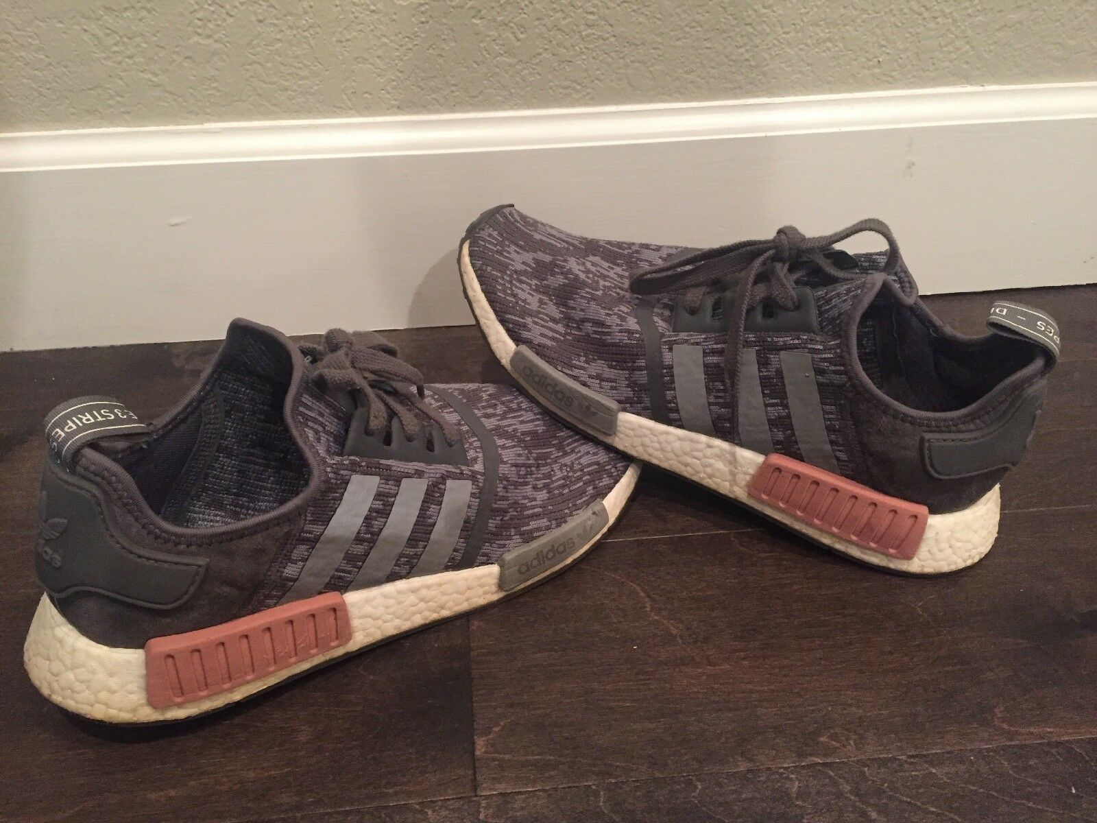 Adidas Nomad Grey Raw Pink BY9647 Size 11 (Men's) Runs a little small