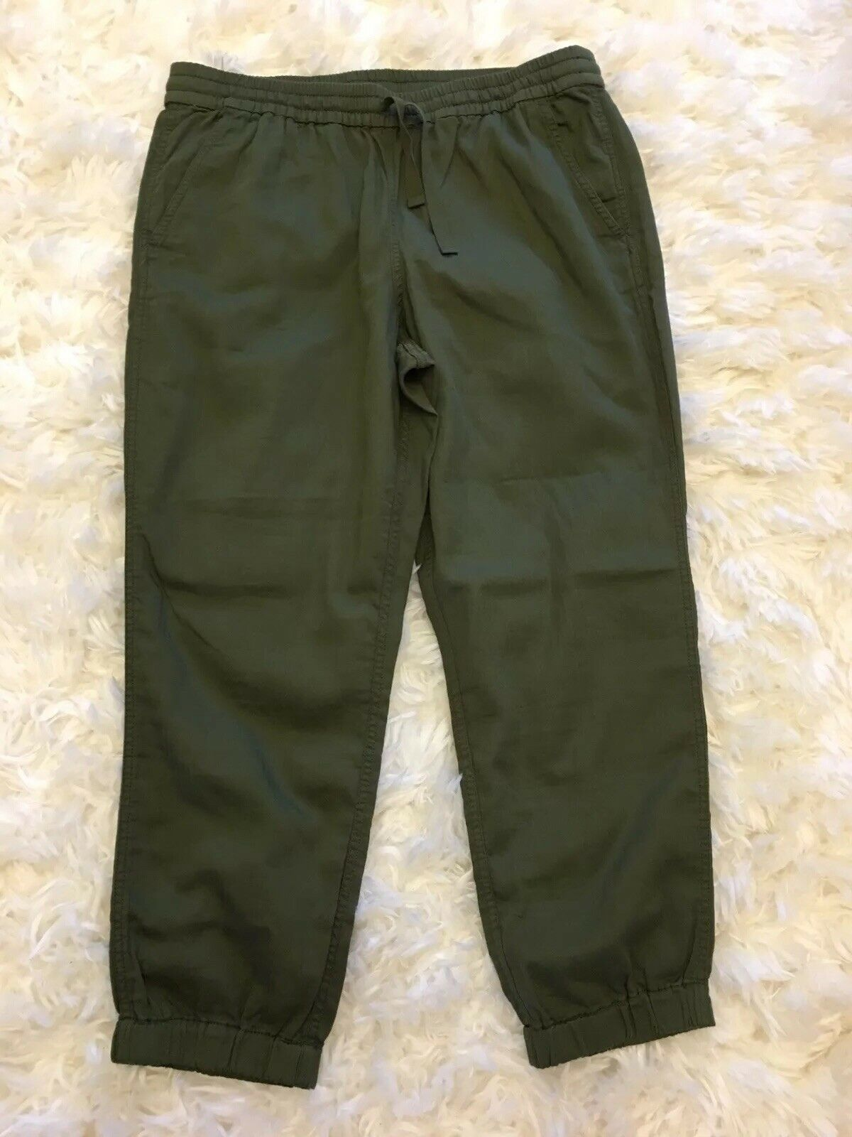 New J Crew Point Sur Seaside Pant in Cotton Twill Deep Moss Sz 12 H7729