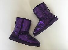UGG Girls Gorgeous PURPLE Sequins Boots Size 1 LN