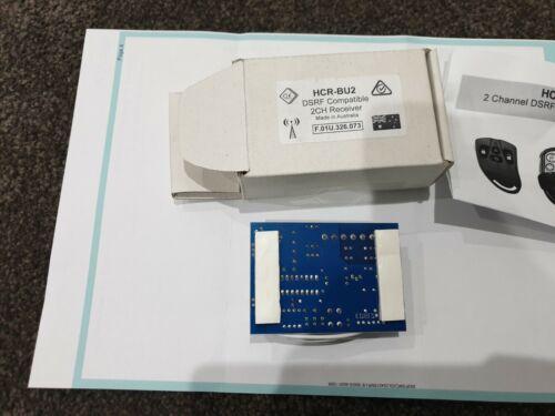 Brand New Garage Door Adapter HCR-BU2 DSRF 2 Channel Relay Output Receiver