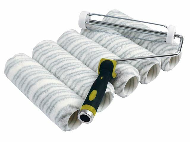Stanley - Paquete de rodillos de rayas plateadas 230 x 44 mm (9 x 1.3 / 4in)