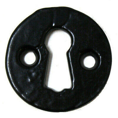 Rustic Key Hole open escutcheon in Pewter Finish Cast Iron PEW41