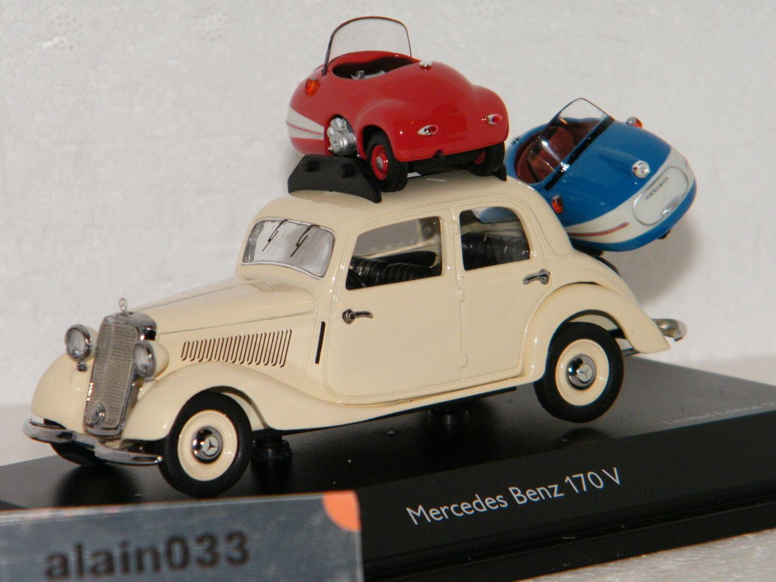 MERCEDES BENZ  170V + 2 Brütsch Mopetta SCHUCO 1 43 Ref 450227000