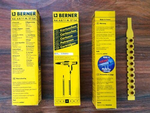 3 Packungen Kartuschen Berner 10x10 gelb 4 Nr Tornado 135841 für Berner