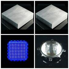 Sure 170x170x44mm Aluminum Heatsink Heat Sink With 100w Blue Ledlens Reflector