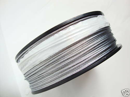 "3//32/"" 1000 ft reel Galvanized Wire Rope Cable 7x7"