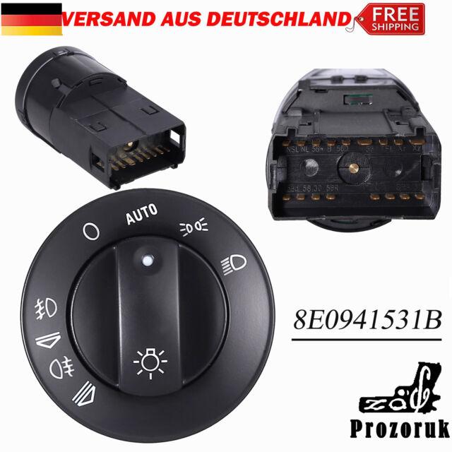 Lichtschalter Scheinwerferschalter Für VW AUDI A4 8E B6, B7 Avant 8E0941531B DE