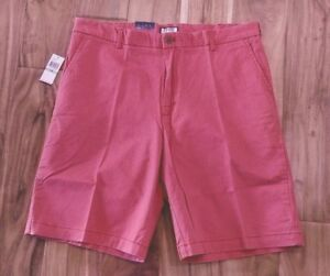 NWT Men/'s IZOD Saltwater Red Casual Shorts Size 36